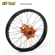 Haan wheel SX85 04- 16-1,85 BLACK RIM/ORANGE HUB