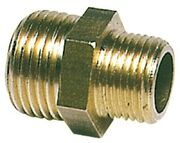 brass double nipple 2 1/2x3