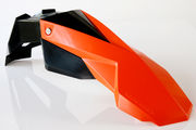 Circuit Universal Supermoto front fender STEALTH black/orange