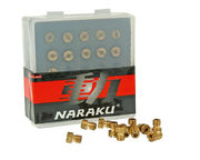 Naraku Main Jet set, 5mm, #80 - #100 (11pcs), Fits: Dellorto