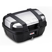 Givi 52 litre top-case black with aluminium finish with top opening