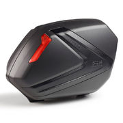 Givi V37 pair of black sidecases with red reflectors and carbon look