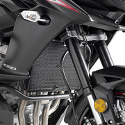 Givi Stainless steel specific radiator guard black painted Versys 1000 (17-19)