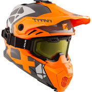 CKX Helmet + Goggles TITAN Airflow Steep orange/grey