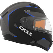 CKX Helmet, Flip-Up Flex RSV Control Blue Electrical visor