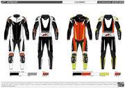 *Alpinestars Leathersuit GP TECH v3 TECH AIR Comp Red fluo/Black/Yellow fluo