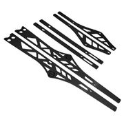 Itek Rail stiffeners powdercoated black Polaris 163""