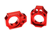 Scar Axle Blocks - Kawasaki/Suzuki Red color