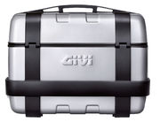 Givi 33 litre top-case black with aluminium finish with top opening