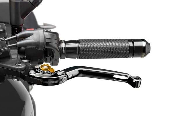 Puig Foldable Clutch Lever 16'C/Black Selector C/Gold