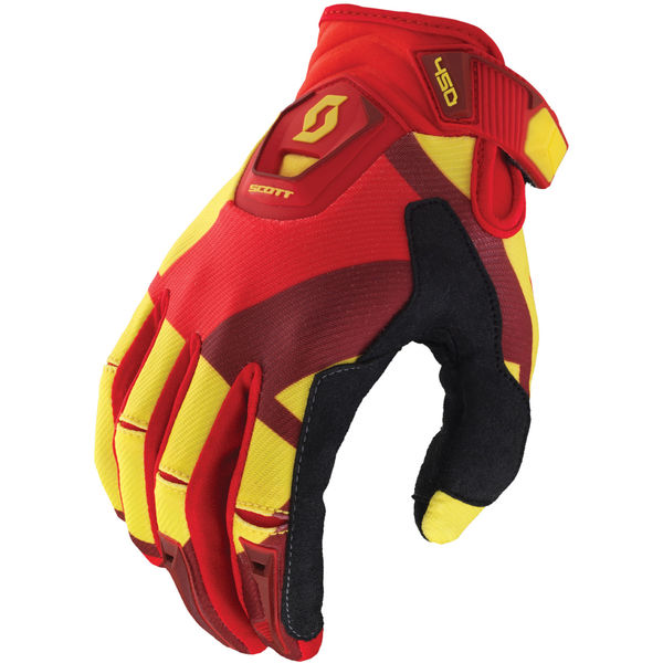 Scott 450 Cubic glove yellow/red