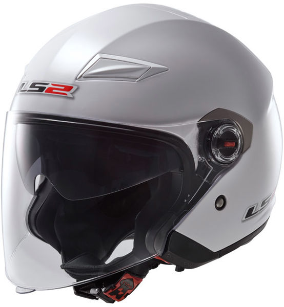LS2 helmet OF569 TRACK SINGLE MONO gloss white