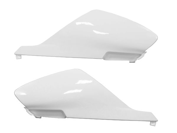 Tec-X Rear side cover kit, White, Derbi Senda 00-08